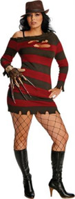 MISS SEXY KRUEGER ADULT PLUS SIZE COSTUME