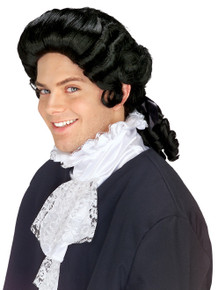 Black Colonial Man Wig