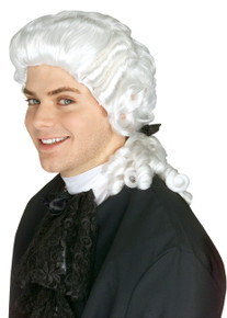 Wig Colonial Man White