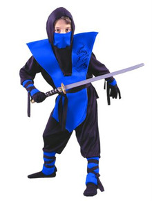 NINJA COSTUME CHILD BLUE