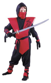 NINJA COSTUME CHILD RED