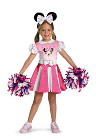 MINNIE MOUSE CHEERLEADER COSTUME CHILD