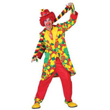 Bubbles The Clown Adult Costume Small