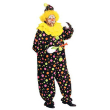 Neon Dotted Clown Adult Costume