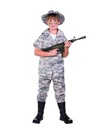 Us Hero Camoflage Child Costume