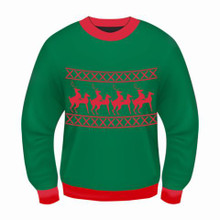 REINDEER GAMES ADULT CHRISTMAS SWEATER