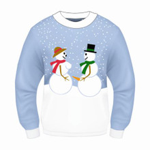 SNOW COUPLE ADULT CHRISTMAS SWEATER
