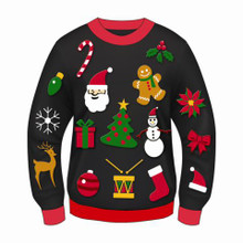 CHRISTMAS ICONS ADULT SWEATER
