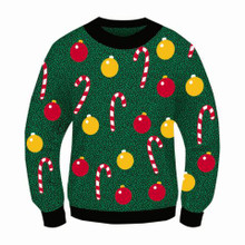 CHRISTMAS ORNAMENTS ADULT SWEATER