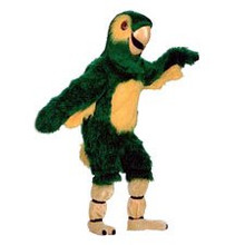 Parrot Mascot Costume Green (Rental)