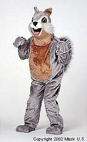 Squirrel Mascot Costume Grey (Rental)