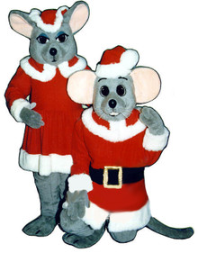 Male Christmas Mouse Mascot Costume (Rental)
