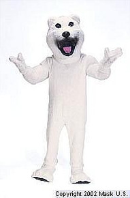 Polar Bear Mascot Costume (Rental)