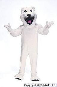 Polar Bear Mascot Costume (Rental)