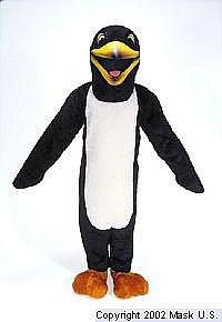 Penguin Mascot Tuxedo Costume (Rental)