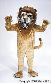 African Lion Mascot Costume (Rental)