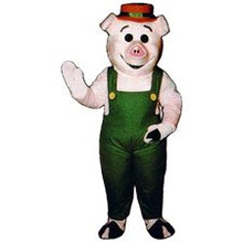 Farmer Pig Man Mascot Costume (Rental)