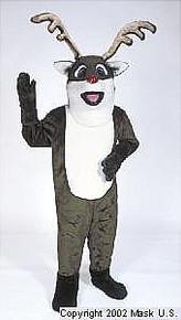 Rudy Reindeer Mascot Costume (Rental)