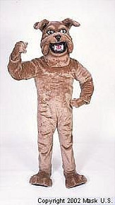 Tan Bulldog Mascot Costume (Rental)