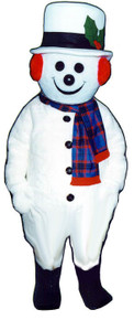Snowman Mascot Jolly Costume (Rental)