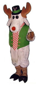 Christmas Moose Mascot Costume (Rental)