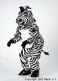 Zebra Mascot Costume (Rental)