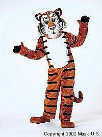 Tiger Mascot Friendly Costume (Rental)