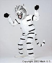 Tiger Mascot White Costume (Rental)