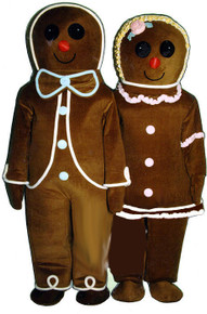 Gingerbread Boy Mascot Costume (Rental)