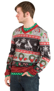 Ugly Christmas Sweater Frisky Deer Adult