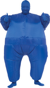 Inflatable Skin Suit Costume Adult Blue