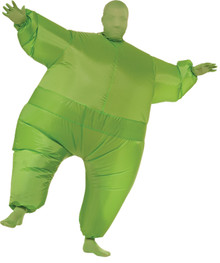Inflatable Skin Suit Costume Adult Green