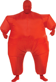 Inflatable Skin Suit Adult Costume Red