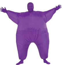 Inflatable Skin Suit Adult Costume Purple