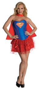 SuperGirl Corset Adult Costume Large