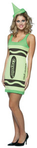 Green Crayola Crayon Tank Dress