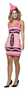 Crayola Crayon Tank Dress Tickle Me Pink