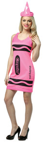 Neon Pink Crayola Crayon Tank Dress