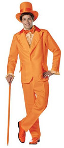 Dumb & Dumber Lloyd Christmas Orange Tuxedo Adult Costume