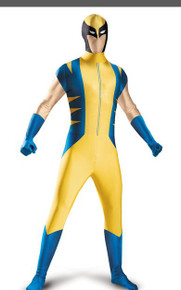 Wolverine Morph Suit Adult Costume