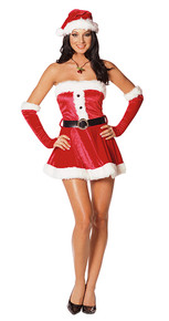 Santa's Sweetie Adult Costume Large 10-14