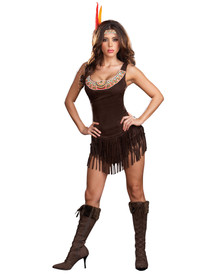 Pocahottie Indian Costume Adult