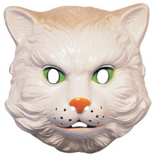 Cat Animal Mask Plastic  White