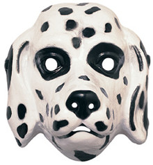 Dalmatian Dog Mask Plastic