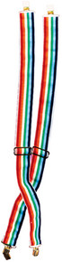 Rainbow Clown Suspenders