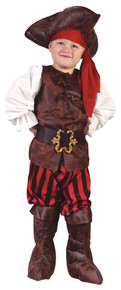 High Seas Pirate Boy Costume Toddler 3T-4T