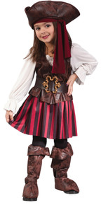 High Seas Pirate Girl Costume Toddler 3T-4T