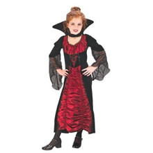 Elegant Coffin Vampiress Costume Child Small 4-6