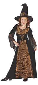 Elegant Coffin Witch Costume Child Large 12-14
