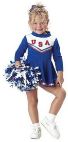 Patriotic Cheerleader Toddler Costume